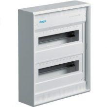 Hager Volta VA24B Műanyag kiselosztó 24 modul, 2 sor, ajtó nélkül, IP30, falon kívüli, Volta (Hager VA24B)