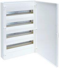 Műanyag kiselosztó, 72 modul, 4 sor, teli ajtóval, IP40, falon kívüli, Golf (Hager VS418PD)