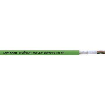 Lappkabel 0036918 Ölflex SERVO FD 798 CP 10x0,14+4x0,5 mm2 30 V zöld RAL6018