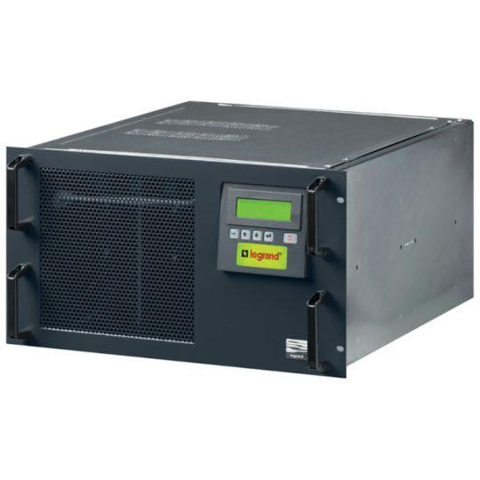 Legrand 310381 MEGALINE 2,5 kVA 13 perc BEM: Schuko/FR dugó KIM: 4xSchuko RS232 online kettős konverziós szünetmentes rack (UPS) ( Legrand 310381 )