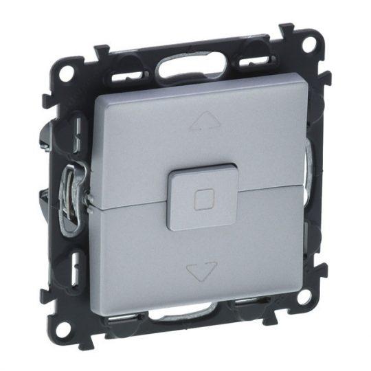 Legrand Valena Life 752330 nyomógombos redőnykapcsoló, aluminium burkolattal keret nélkül, süllyesztett 10A 250V (Legrand 752330)