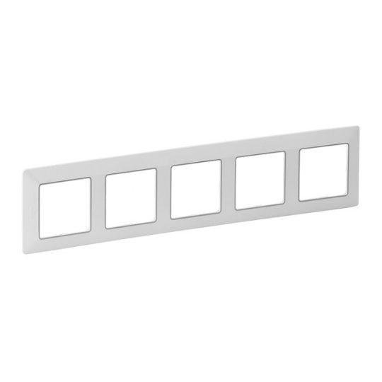 Legrand Valena Life 754035 5-ös fehér / króm keret függőleges és vízszintes elhelyezéssel (Legrand 754035)