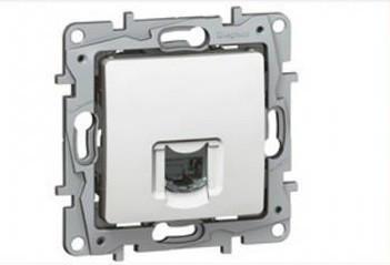 Legrand Niloé 764571 Informatikai csatlakozóaljzat 1xRJ45 Cat5e UTP fehér burkolattal keret nélkül (Legrand 764571)
