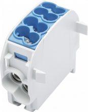 Leipold, 080110-1-3, fővezetéki leágazó sorkapocs HLAK 25/16 1/2 kék, 2x25 + 2x16 mm2, sorolható, alumínium és réz vezetékhez (Leipold 080110-1-3)