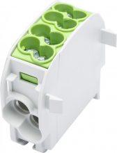 Fővezetéki leágazó sorkapocs HLAK 25/16 1/2 zöld, 2x25 + 2x16 mm2, sorolható, alumínium és réz vezetékhez (Leipold 080110-2-3)