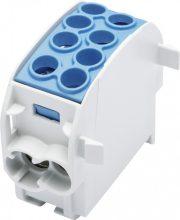 Fővezetéki leágazó sorkapocs HLAK 35/25 1/2 kék, 2x35 + 2x25 mm2, sorolható, alumínium és réz vezetékhez (Leipold 080210-1-3)
