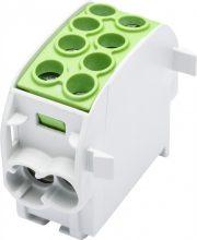 Leipold, 080210-2-3, fővezetéki leágazó sorkapocs HLAK 35/25 1/2 zöld, 2x35 + 2x25 mm2, sorolható, alumínium és réz vezetékhez (Leipold 080210-2-3)