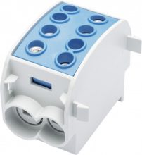 Fővezetéki leágazó sorkapocs HLAK 70/50 1/2 kék, 2x70 + 2x50 mm2, sorolható, alumínium és réz vezetékhez (Leipold 080310-1-3)