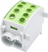 Leipold, 080310-2-3, fővezetéki leágazó sorkapocs HLAK 70/50 1/2 zöld, 2x70 + 2x50 mm2, sorolható, alumínium és réz vezetékhez (Leipold 080310-2-3)