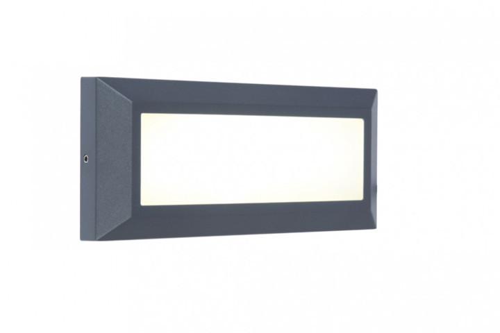 Lutec 5191601118 HELENA, kültéri, falon kívüli járdavilágító lámpa, 10W, IP54 védettséggel, nappali fény (semleges fehér) ( 4000K ), 400 lm, 5 év garanciával, LED panel, sötétszürke / opál színben ( LUTEC 5191601118 )