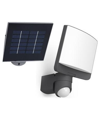 Lutec 6925601345 SUNSHINE, kültéri, napelemes mozgásérzékelős lámpa 8W, IP44 védettséggel, hidegfehér ( 5000K ), 500 lm 2 év garanciával, LED panel, szén szürke / opál színben ( LUTEC 6925601345 )