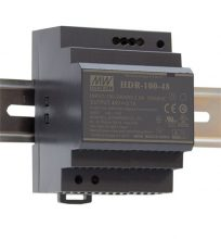 Mean Well HDR-100-24 Tápegység 1 fázisú, 100W, 24V DC kimenettel, 3,83A, 85...264 V AC, 50/60 Hz) ( HDR-100-24 )