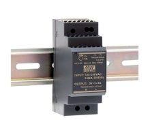 Mean Well HDR-30-12 Tápegység 1 fázisú, 30W, 12V DC kimenettel, 2A, 85...264 V AC, 50/60 Hz) ( HDR-30-12 )