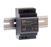 Mean Well HDR-60-24 Tápegység 1 fázisú, 60W, 24V DC kimenettel, 2,5A, 85...264 V AC, 50/60 Hz) ( HDR-60-24 )