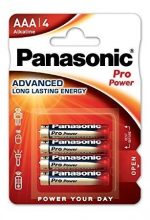 Panasonic Pro Power 1,5 V LR03 ( AAA ) alkáli, tartós mikró elem, nagy energiaigényű készülékekhez. 4 db / csomag ( ADVANCED LR03PPG4BP )