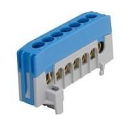 Kalapsínre rögzíthető sorkapocs, 7x16mm2 kék, csavaros csatlakozás, N7-F2 (Pollmann 2020266)
