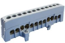Kalapsínre rögzíthető sorkapocs, 12x16mm2 szürke, csavaros csatlakozás, A12-F2 (Pollmann 2020271)