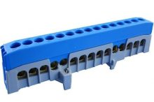 Kalapsínre rögzíthető sorkapocs, 15x16mm2 kék, csavaros csatlakozás, N15-F2 (Pollmann 2020272)