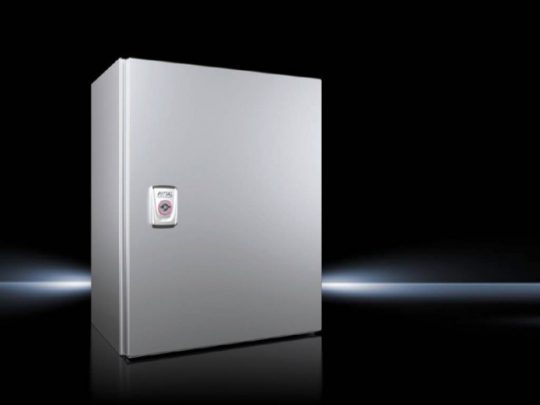Rittal AX 1005.000 rozsdamentes acél AISI 304L szekrény, teli ajtóval, 380x300x210, IP66, szerelőlappal (Rittal 1005000)