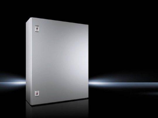 Rittal AX 1012.000 rozsdamentes acél AISI 304L szekrény, teli ajtóval, 760x600x210, IP66, szerelőlappal (Rittal 1012000)