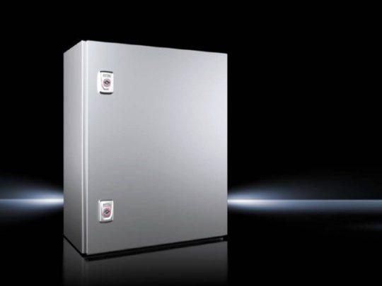 Rittal AX 1015.000 rozsdamentes acél AISI 304L szekrény, teli ajtóval, 500x400x210, IP66, szerelőlappal (Rittal 1015000)