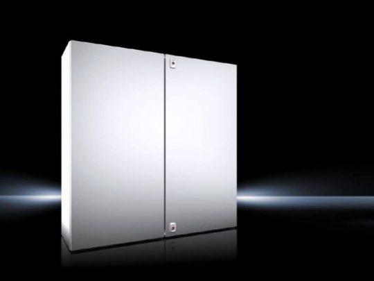 Rittal AX 1018.000 rozsdamentes acél AISI 304L szekrény, teli ajtóval, 1000x1000x300, IP55, szerelőlappal, 2 ajtós (Rittal 1018000)