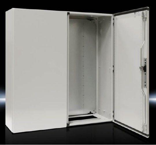 Rittal CM kompakt 5118.500 fém szekrény, teli ajtóval, 1000x1000x300, IP55, szerelőlappal, 2 ajtós (Rittal 5118500)
