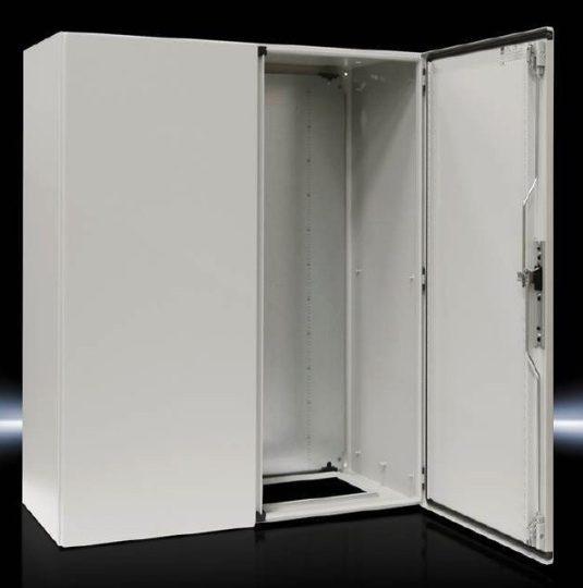 Rittal CM kompakt 5120.500 fém szekrény, teli ajtóval, 1200x1000x400, IP55, szerelőlappal, 2 ajtós (Rittal 5120500)