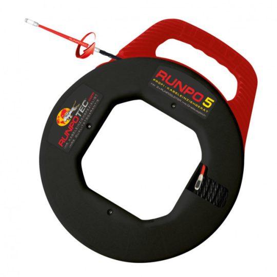 RUNPOTEC 100140 triplán csavart műanyag kábelbehúzó RUNPO 5 vezetékbehúzó szalag 30 m ( RUNPOTEC 100140 )
