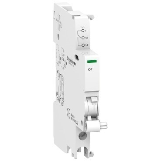 Schneider Electric, Acti9, A9A26924, Nyitás/zárás jelző segédérintkező, 240-415 V (AC),24-130 V (DC) ACTI9 iOF(Schneider A9A26924)