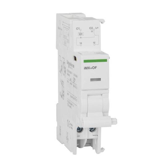 Schneider Electric, Acti9, A9A26947, Munkaáramú kioldó segédérintkező , Nyitás/zárás segédérintkezővel 48 V (AC),48 V (DC) ACTI9 iMX+OF(Schneider A9A26947)
