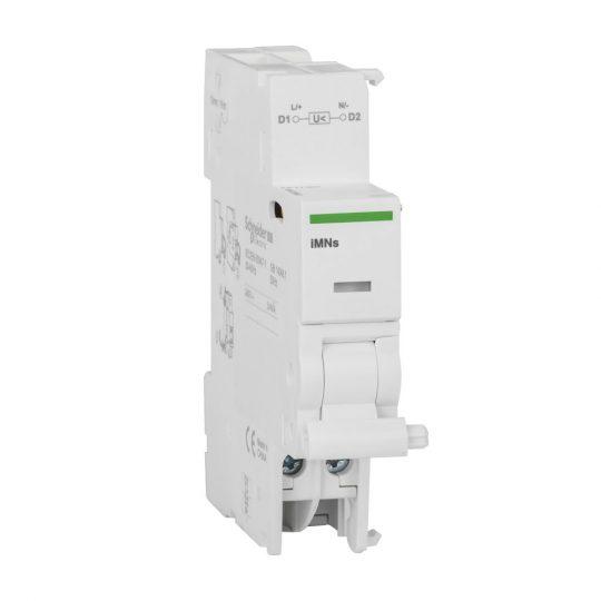 Schneider Electric, Acti9, A9A26963, Nullfeszültség kioldó segédérintkező, késleltetett 220-240 V (AC), ACTI9 iMNs(Schneider A9A26963)
