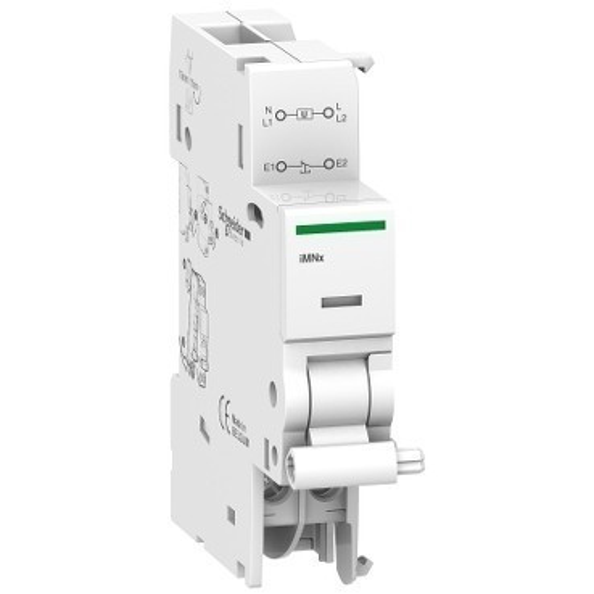 Schneider Electric, Acti9, A9A26969, Nullfeszültség kioldó segédérintkező, független a megtáplálástól 220-240 V (AC), ACTI9 iMNx(Schneider A9A26969)