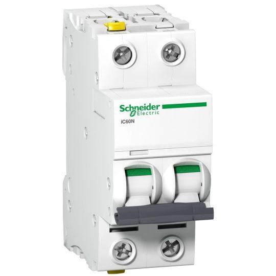 Schneider Electric, Acti9, A9F03210, Kismegszakító 2P,10A, B karakterisztika, 6 kA Acti9 IC60N (Schneider A9F03210)