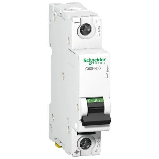 Schneider Electric, Acti9, A9N61512, Kismegszakító 1P,20A, C karakterisztika, 6 kA Acti9 C60H-DC (Schneider A9N61512)