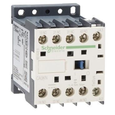 Schneider Electric CA3KN22ND, Segédkontaktor 10A, 60V DC vezerlés, 2 Záró + 2 Nyitó érintkező, csavaros csatlakozás (Segédkapcsoló CA3KN22ND)