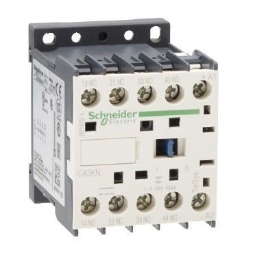 Schneider Electric CA3KN31BD, Segédkontaktor 10A, 24V DC vezerlés, 3 Záró + 1 Nyitó érintkező, csavaros csatlakozás (Segédkapcsoló CA3KN31BD)