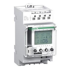 Schneider Electric, Acti9, CCT15243, programozható alkonykapcsoló időkapcsoló funkcióval IC ASTRO 16A, 2 kimenet, memóriakulcssal, Acti9 (Schneider CCT15243)