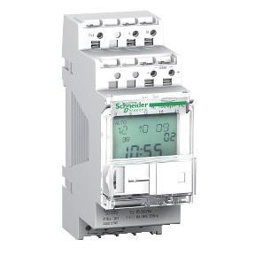 Schneider Electric, Acti9, CCT15490, programozható alkonykapcsoló időkapcsoló funkcióval IC100kp+ 16A, 1 kimenet, digitális fali érzékelővel, memóriakulcssal, Acti9 (Schneider CCT15490)