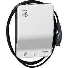 Elektromos autótöltő állomás fali 1x T2 - 22,1 kW, beépített kábellel, RFID kártya leolvasóval EVLink Smart Wallbox (Schneider EVB1A22PCRI)
