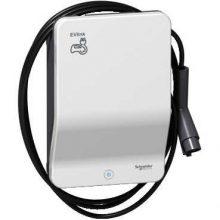Elektromos autótöltő állomás fali 1x T1 - 7,4 kW, beépített kábellel, RFID kártya leolvasóval EVLink Smart Wallbox (Schneider EVB1A7PARI)