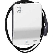Elektromos autótöltő állomás fali 1x T2 - 7,4 kW, beépített kábellel, kulcsos azonosítással EVLink Smart Wallbox (Schneider EVB1A7PCKI)