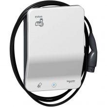 Elektromos autótöltő állomás fali 1x T2 - 7,4 kW, beépített kábellel, RFID kártya leolvasóval EVLink Smart Wallbox (Schneider EVB1A7PCRI)