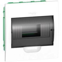 Műanyag kiselosztó, 8 modul, 1 sor, füstszínű ajtóval, IP40 (zárt ajtóval), süllyesztett, Easy9 (Schneider EZ9E108S2F)