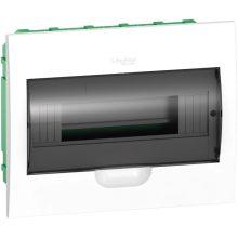 Műanyag kiselosztó, 12 modul, 1 sor, füstszínű ajtóval, IP40 (zárt ajtóval), süllyesztett, Easy9 (Schneider EZ9E112S2F)