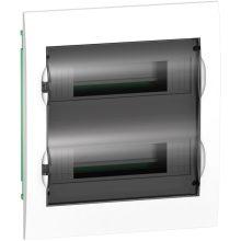 Műanyag kiselosztó, 24 modul, 2 sor, füstszínű ajtóval, IP40 (zárt ajtóval), süllyesztett, Easy9 (Schneider EZ9E212S2F)