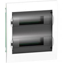 Schneider Electric Easy9 EZ9E212S2F Műanyag kiselosztó, 24 modul, 2 sor, füstszínű ajtóval, IP40 (zárt ajtóval), süllyesztett, Easy9 (Schneider EZ9E212S2F)
