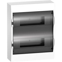 Műanyag kiselosztó, 24 modul, 2 sor, füstszínű ajtóval, IP40 (zárt ajtóval), falon kívüli, Easy9 (Schneider EZ9E212S2S)
