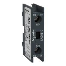 Segédérintkező blokk, homloklapi, 1 Nyitó, csavaros csatlakozás (Schneider LADN01)