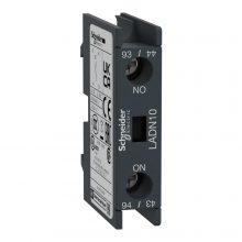 Segédérintkező blokk, homloklapi, 4 Nyitó, csavaros csatlakozás (Schneider LADN04)